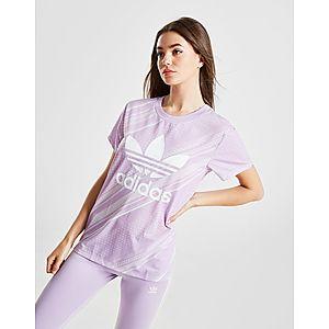 f2118903 ... adidas Originals All Over Print Trefoil Boyfriend T-Shirt