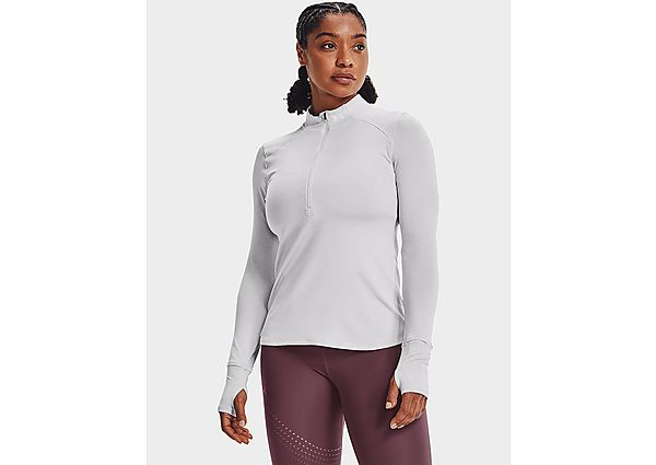 Under Armour Qualifier 1/4 Zip Track Top - Halo Gray Full Heather