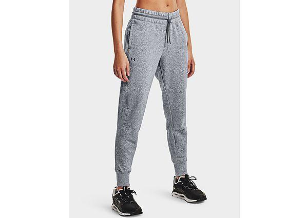 Under Armour Rival Fleece Mesh Trousers - Steel Medium Heather - Womens