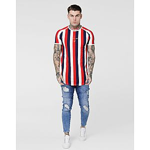 92258ee8 SikSilk Stripe T-Shirt SikSilk Stripe T-Shirt