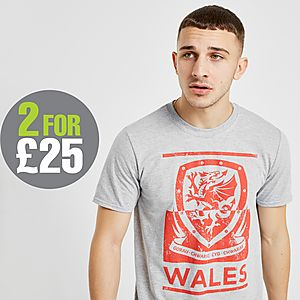 the latest 8f23e e0bd7 Official Team Wales FA Fade Short Sleeve T-Shirt