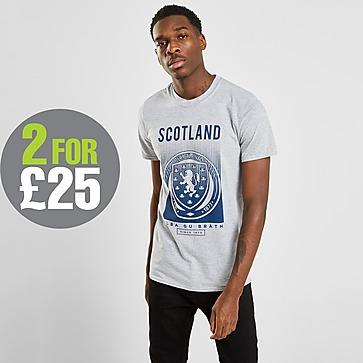 Official Team Scotland FA Fade Short Sleeve T-Shirt