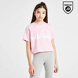 e089e110 Ellesse Girls' Finaro Crop Logo T-Shirt Junior