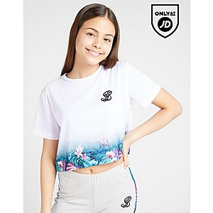 f5acee213f7 ILLUSIVE LONDON Girls' Fade Crop T-Shirt Junior ...