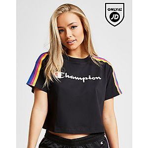 5333f97dec2 Champion Rainbow Tape Crop T-Shirt ...