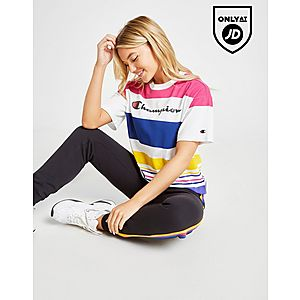 c58953db9 Champion Logo Stripe T-Shirt ...