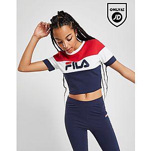 f2098f078d8 Fila Colour Block Crop T-Shirt ...