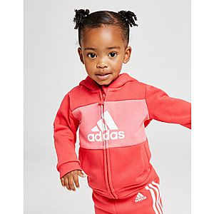 0340a276 ... adidas Girls' Logo Full Zip Hooded Suit Infant