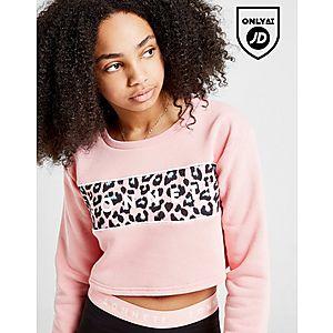 a2894b02ea0d Sonneti Girls' Leopard Crop Crew Sweatshirt Junior ...