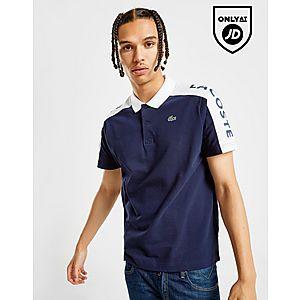 8fa7f6e9 ... Lacoste Colour Block Linear Shoulder Logo Polo Shirt