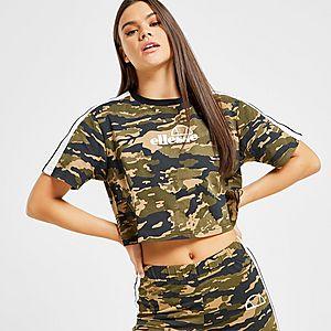 a51a94f0 Ellesse Stripe Crop T-Shirt