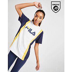 0a42c130b43 Fila Stripe Panel Boyfriend T-Shirt ...