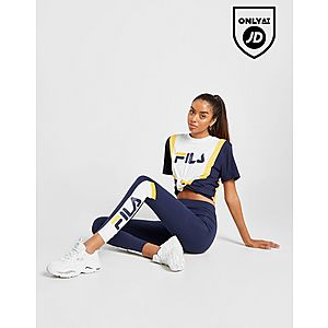 d88e4dd79f32 ... Fila Stripe Panel Boyfriend T-Shirt