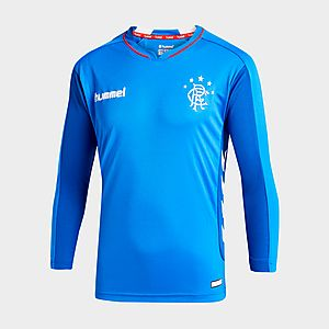 new product 923ab 17f95 Hummel Rangers FC 2018/19 Long Sleeve Home Shirt Junior