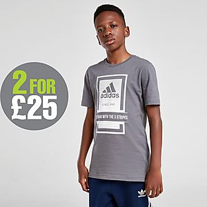 adidas Fade Box T Shirt Junior