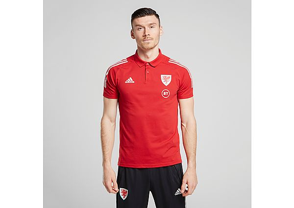 adidas Wales Condivo 20 Polo Shirt - RED - Mens