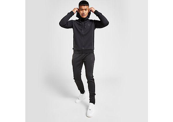 Gym King Core Zip Through Poly Tracksuit - Black - Mens