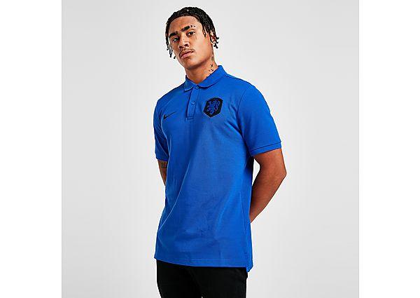 Nike Netherlands Short Sleeve Polo Shirt - Bright Blue - Mens