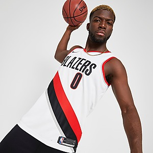 Nike NBA Portland Trail Blazers Lillard #0 Swman Jersey