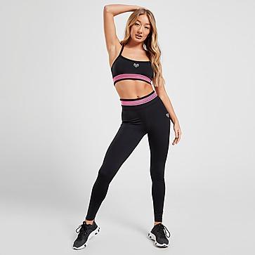 Pink New Reebok Sports Bra Vest Top Ladies Womens Running Gym Training Fitness