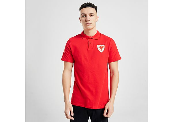Official Team Wales Polo Shirt - Red - Mens
