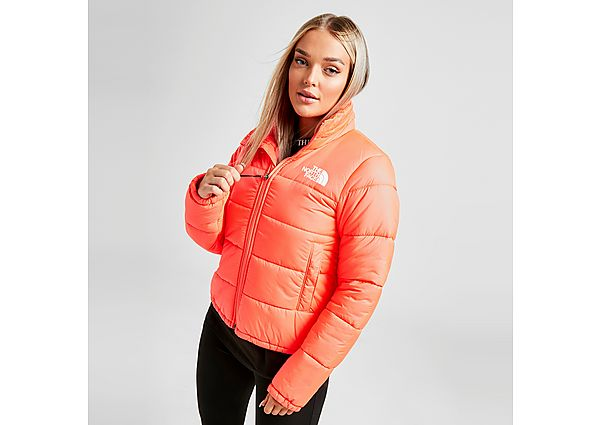 The North Face Dome Logo Puffa Jacket - Red - Womens