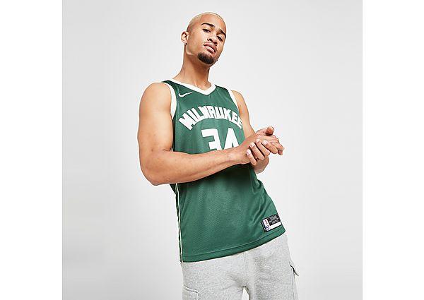Nike NBA Milwaukee Bucks Swingman Giannis #34 Jersey - Fir