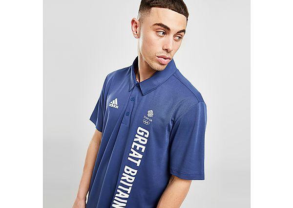 adidas Team GB Polo Shirt - Blue - Mens