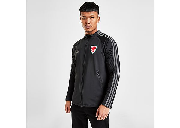 adidas Wales Anthem Jacket - Black - Mens