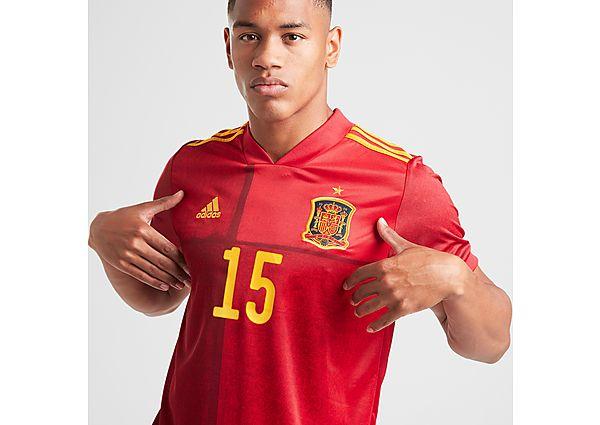 adidas Spain 2020 Ramos #15 Home Shirt - Red - Mens