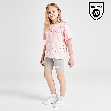 Nike Girls' Swoosh T-Shirt/Cycle Shorts Set Children