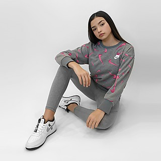 Nike Girls' Swoosh Boyfriend Crew Sweatshirt Junior