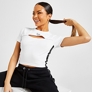 Pink Soda Sport Keyhole Crop T-Shirt