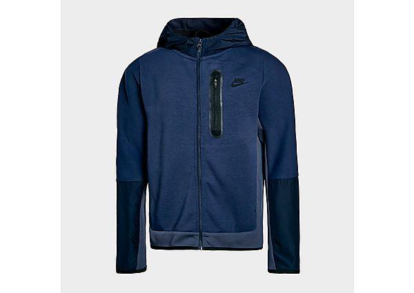 Nike Tech Fleece Full Zip Woven Hoodie Junior - Midnight Navy - Kids