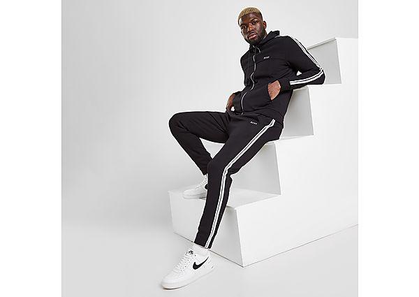 BOSS Zip Through Hooded Tracksuit - Black - Mens