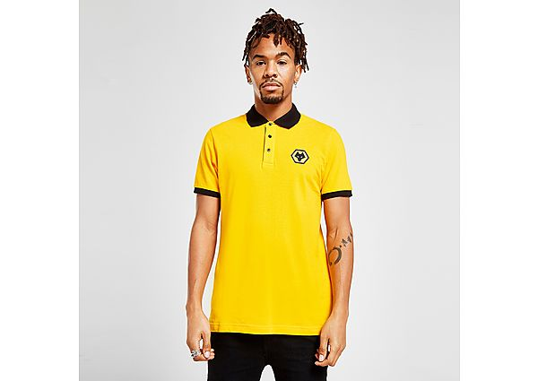 Official Team Wolverhampton Wanderers FC Essential Polo Shirt - Yellow - Mens