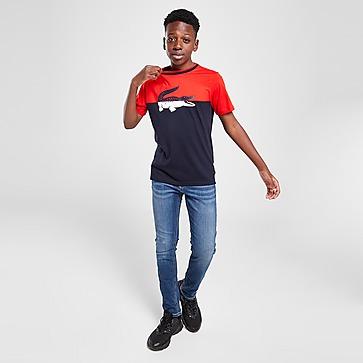 Lacoste Colour Block Croc T-Shirt Junior