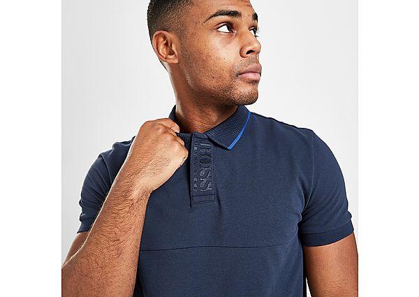 BOSS Paule Neck Box Polo Shirt - Blue - Mens