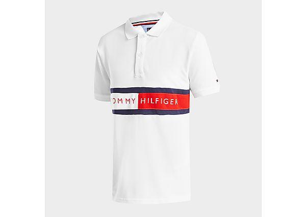 Tommy Hilfiger Flag Logo Polo Shirt Junior - White - Kids