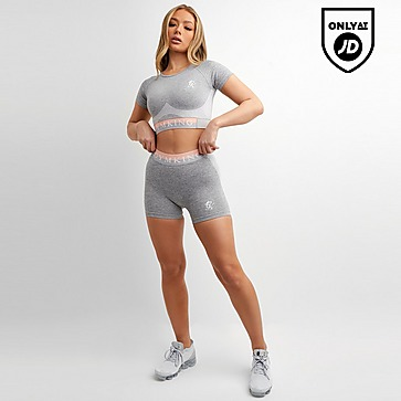 Gym King Seamless Crop Short Sleeve Top