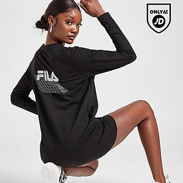 Fila Long Sleeve Back Logo T-Shirt Dress