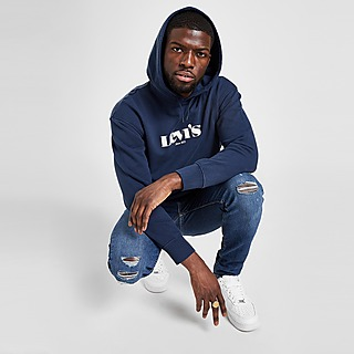 Levis 519 Skinny Distressed Jeans