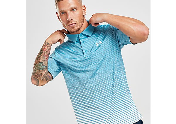 Under Armour Golf Faded Polo Shirt - Blue - Mens