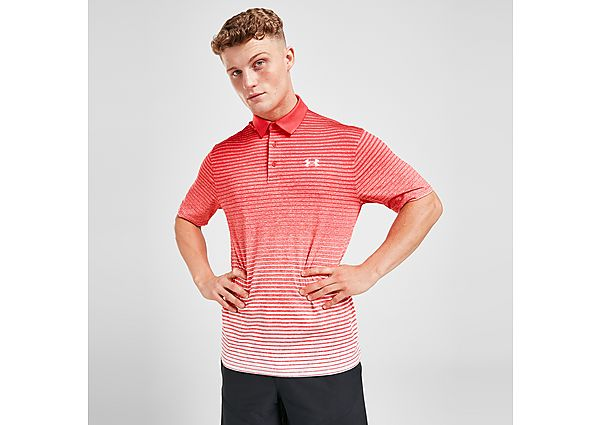Under Armour Golf Faded Polo Shirt - Red - Mens