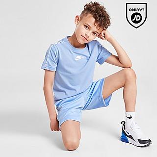 Nike Swoosh Tape T-Shirt/Shorts Set Children