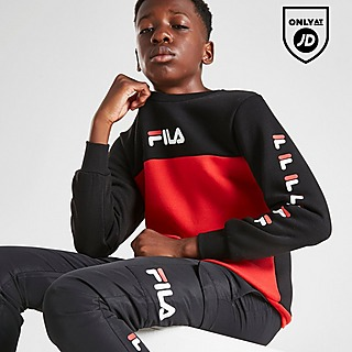 Fila Jake Repeat F Colour Block Crew Sweatshirt Junior