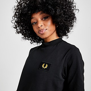 Fred Perry Badge Logo Crop T-Shirt