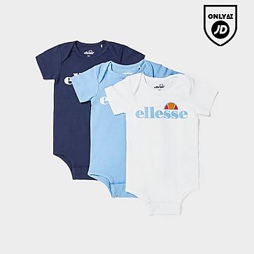 Ellesse Amealio 3 Pack Babygrows Infant