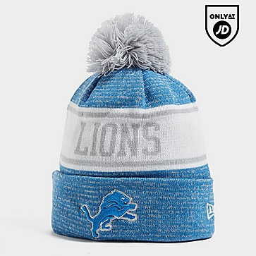 New Era NFL Detroit Lions Pom Beanie Hat
