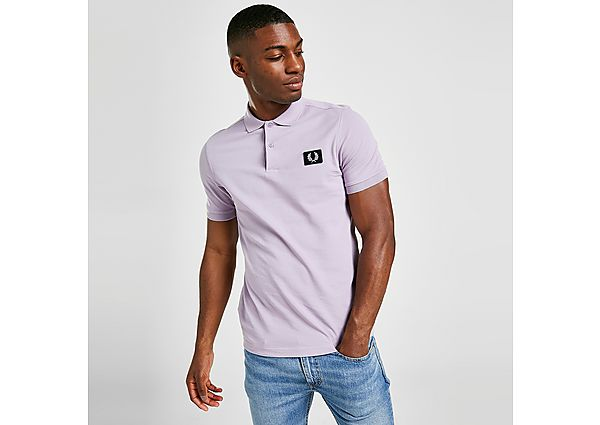 Fred Perry Patch Polo Shirt - Purple - Mens